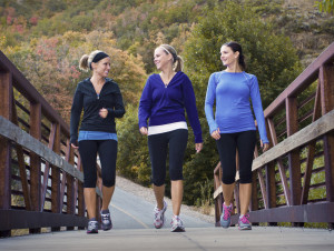 Girls Walking for Exercise