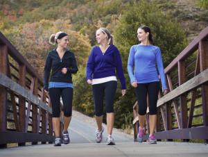 Girls Walking for Exercise