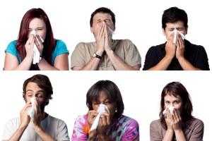 Six sneezing people sm