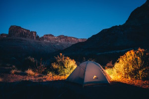 Camping: Photo by Ben Duchac, Unsplash.