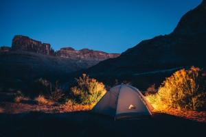 Camping: Photo by Ben Duchac, Unsplash.