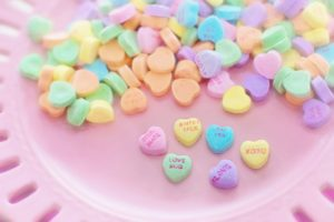 Valentine's candy hearts